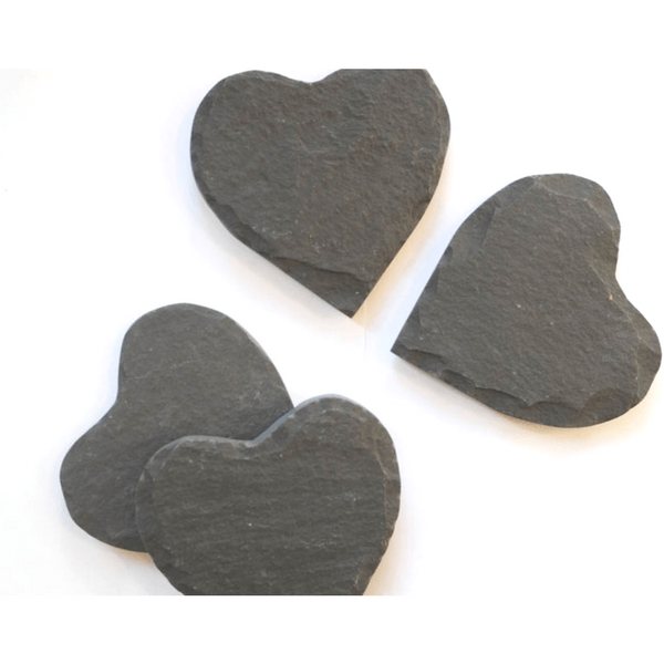Slate Heart-Shaped Coasters (set of 4) - Sugarboo and co