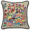 Hand-Embroidered Pillow - Texas - Sugarboo and Co