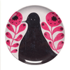 Sugarboo Art Print Melamine Plates - Black bird in Flowers - Sugarboo and Co