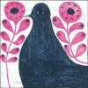 Black Bird in Flowers - Gallery Wrap -  Sugarboo and Co Art Print
