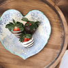 Sugarboo & Co. Handmade Ceramic Heart Dish printed with vintage lace
