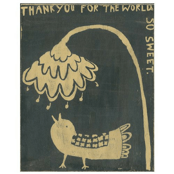 Thank you Bird - Sugarboo and Co - Gallery Wrap