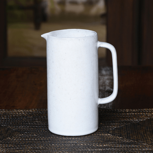 White Ceramic Pitchers (Two Sizes) - Large - Sugarboo and Co