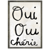 Oui Oui Chérie (Yes Yes Darling) - Sugarboo and Co Art Print - Grey wood frame