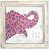 Pink elephant - Love to you - Sugarboo and Co Art Print - White Wash Frame
