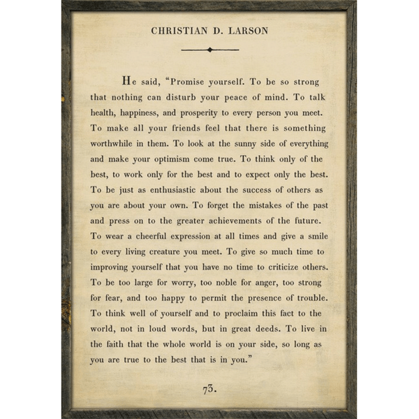 Christian Larson Book Collection - Sugarboo and Co - Cream - Grey Wood Frame