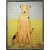 Brown Boy Dog - Sugarboo and Co Art Print - Grey wood frame