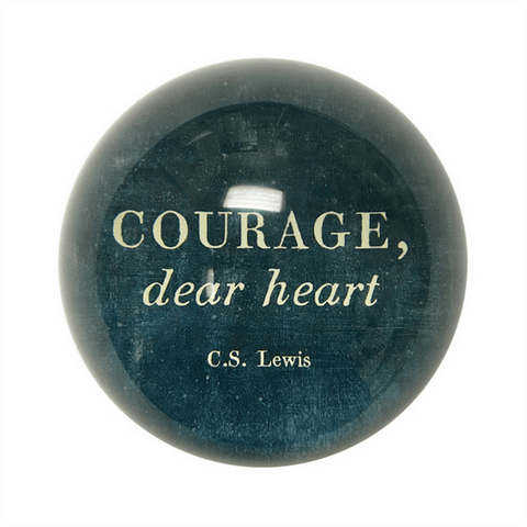 Paperweight - Courage, Dear Heart - Sugarboo & Co