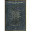 Earth Teach me to Remember Poetry Collection - Sugarboo and Co - Charcoal - Grey Wood Frame