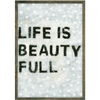 Polka Life is Beauty Full - Sugarboo and Co - Grey Wood Frame