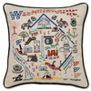 Hand-Embroidered Pillow - Washington DC - Sugarboo and Co