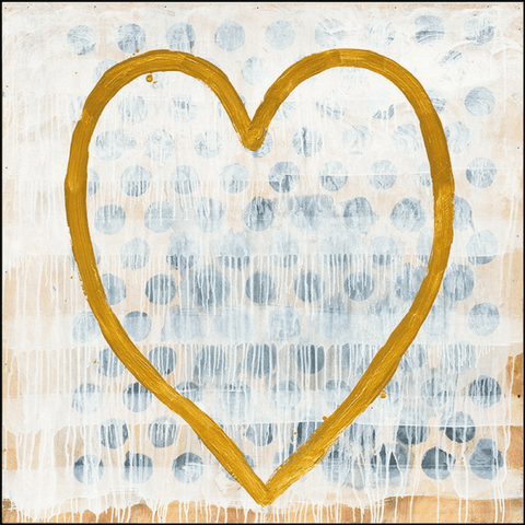 Heart of Gold - Art Print - Sugarboo and Co - Gallery Wrap