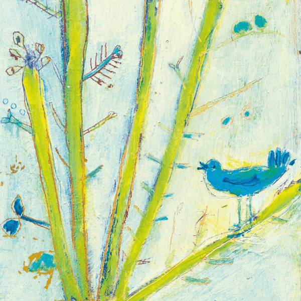 Blue Bird Left - Sugarboo and Co Art Print - Gallery Wrap