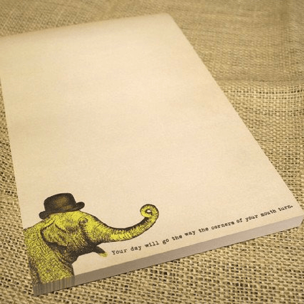 Elephant Notepad - Sugarboo and Co