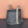 Leather and Hemp Woven Storage Basket - Sugarboo and Co