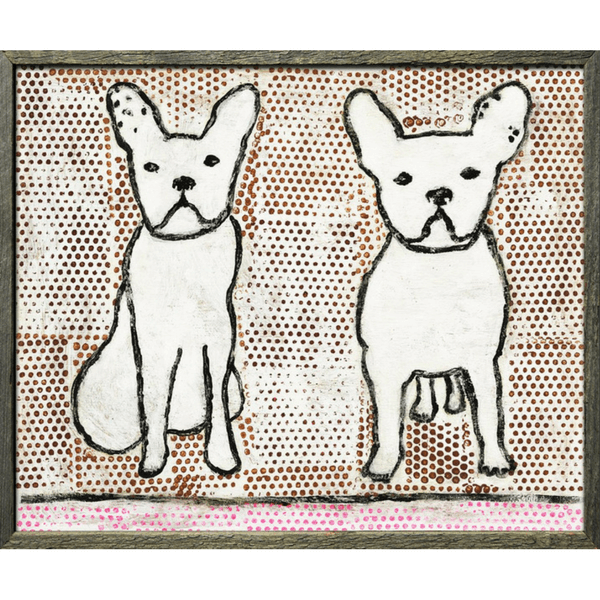 Double Trouble - Sugarboo and Co Art Print - Grey Wood Frame