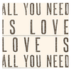Antique Sign - All You Need is Love - Cream - Sugarboo & Co