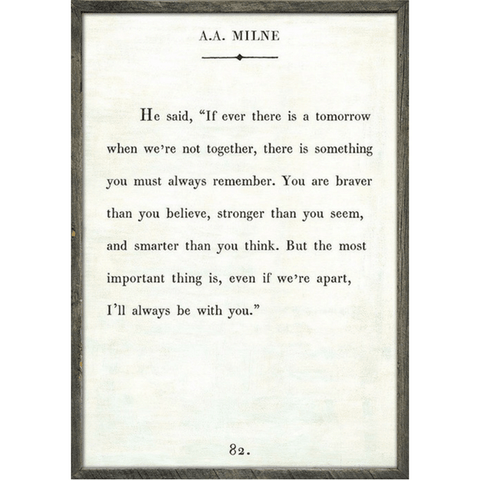 A.A. Milne Book Collection - Sugarboo and Co - White - Grey Wood Frame