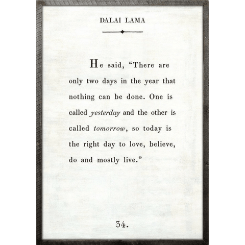 Dalai Lama Book Collection - Sugarboo and Co - White - Grey Wood Frame