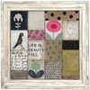 Collage Art Print - Sugarboo and Co - White Wash Frame
