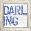 Darling Art Print - Sugarboo and Co - White wash frame