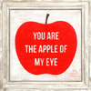 You Are the Apple of My Eye - White Wash Frame - Sugarboo and Co Art Print