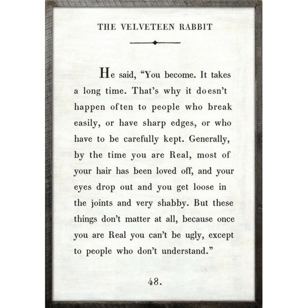 The Velveteen Rabbit Book Collection - Sugarboo and Co - White - Grey Wood Frame