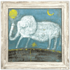 Baby Elephant Art Print - Sugarboo and Co - White Wash Frame