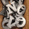 Alphabet Zinc Letters - Sugarboo and Co