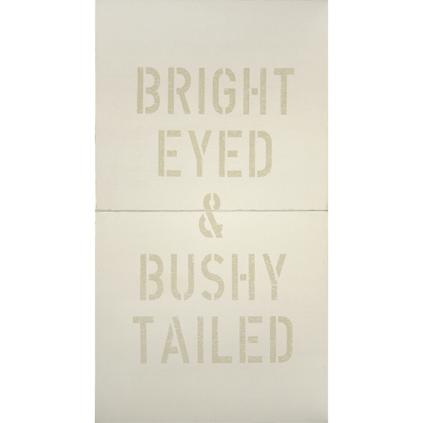 Antique Sign - Bright Eyed and Bushy Tailed