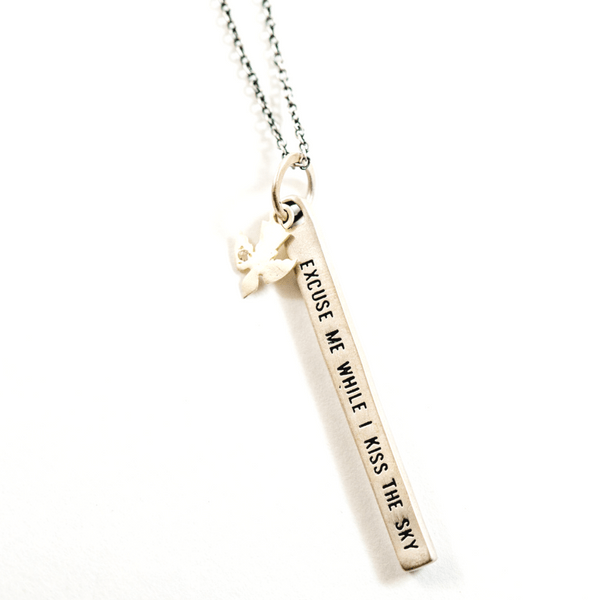 Sterling Silver Necklace - Excuse Me While I Kiss the Sky - Sugarboo and Co