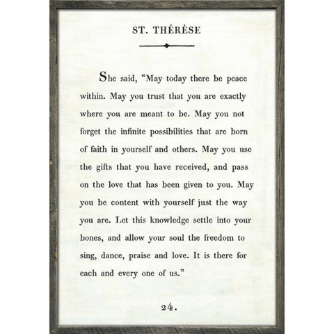 St. Therese - Book Collection - Sugarboo and Co - White - Grey Wood Frame