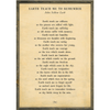Earth Teach me to Remember Poetry Collection - Sugarboo and Co - Cream - Grey Wood Frame