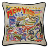 Hand-Embroidered Pillow - New York - Sugarboo and Co