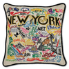Hand-Embroidered Pillow - New York City - Sugarboo and Co