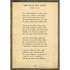 The Road Not Taken - Robert Frost - Sugarboo and Co Poetry Collection - Cream - Grey Wood Frame