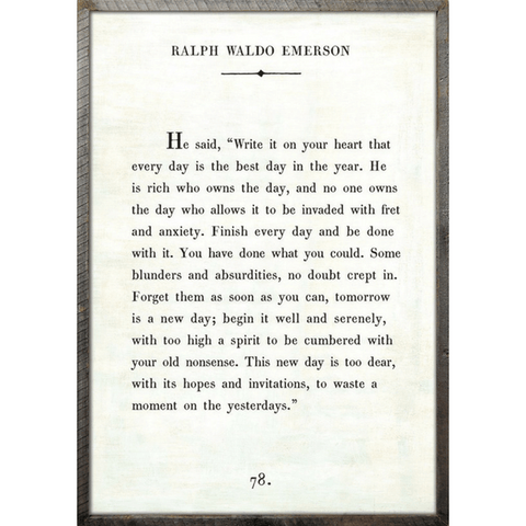Ralph Waldo Emerson - Book Collection - White - Grey Wood Frame - Sugarboo and Co