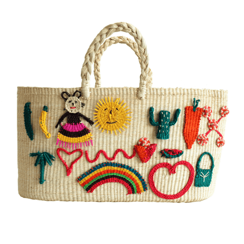 Patches Handwoven Tote (2 Color Options)