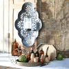 Iron Wall Sconce with Glass Hurricane - Sugarboo and Co