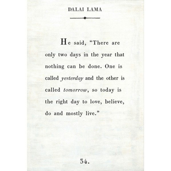 Dalai Lama Book Collection - Sugarboo and Co - White - Gallery Wrap