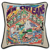 Hand-Embroidered Pillow - New Orleans - Sugarboo and Co