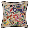 Hand-Embroidered Pillow - South Carolina - Sugarboo and Co