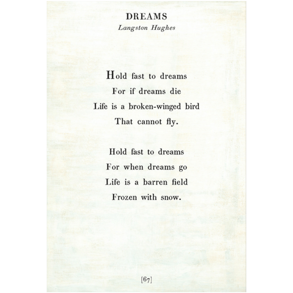 Dreams Poetry Collection - Sugarboo and Co - White - Gallery Wrap