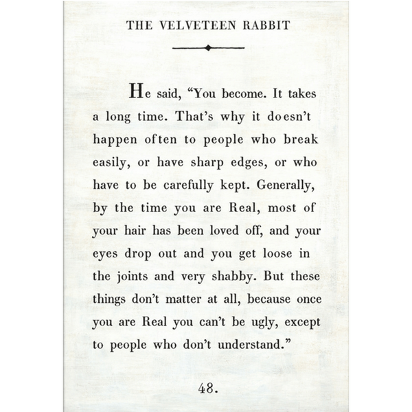 The Velveteen Rabbit Book Collection - Sugarboo and Co - White - Gallery Wrap