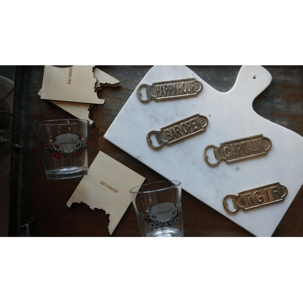 Gold Bottle Opener - Captain - Sugarboo and Co