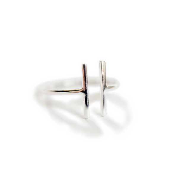 Sterling Silver Double Bar Ring - Sugarboo and Co