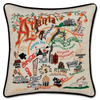 Hand-Embroidered Pillow - Atlanta - Sugarboo and Co