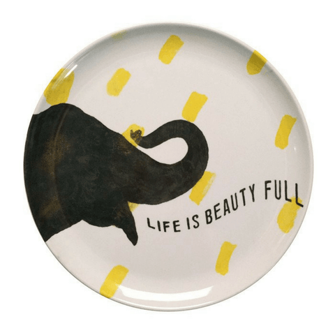 Sugarboo Art Print Melamine Plates - Smart Elephant - Sugarboo and Co