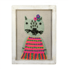 Fabric Wall Art - Green Cat - Sugarboo and Co