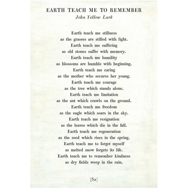 Earth Teach me to Remember Poetry Collection - Sugarboo and Co - White - Gallery Wrap